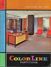 ColorLine Partitions Catalog 1960 Unistrut Products Chicago