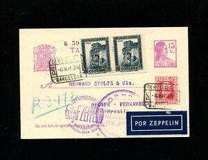 Zeppelin Sieger 203 1933 1st South America Flight  Spain Post Return Flight