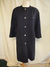 "Ladies Coat Windsmoor, navy pure wool, bust 40"", length 40"", collarless 2497"