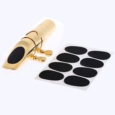 8x cuscinetti pad protezione per bocchino sassofono tenore alto sottili 0,3mm.