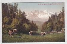 AK Lungern, Oltschihörner, Kühe, 1910