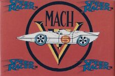 "SPEED RACER MACH V LOGO 3"" X 2"" MAGNET 1992 MADE IN USA"
