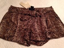 MM COUTURE BY MISS ME WOMEN'S  Snake Print DRESS SHORTS~ SIZE Small