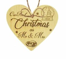 First Christmas As Mr and Mrs Tree Bauble Wedding Anniversary Gifts Decoration