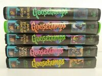 Lot of 5 EMPTY Goosebumps VHS Clamshell Cases with Artwork NO TAPES
