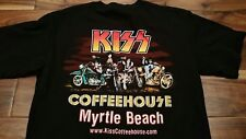 KISS Coffeehouse Myrtle Beach T-Shirt Medium Coffee Shop Rock Bar South Carolina