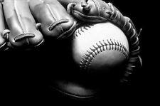 Framed Print - Still Life Baseball Mitt with Ball (Picture Poster Art Babe Ruth)