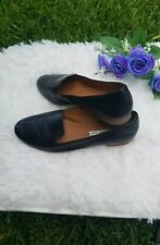 & Other Stories Shoes 39 US 8 Black Slip On Loafer 100% leather