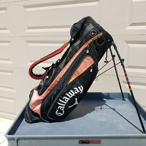 Callaway Stand XXT 6 Divider Golf Bag Black and Orange Great Condition Preowned