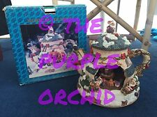 VIDEO !!! Moving Musical Light Up Christmas Teapot music box mouse mice figurine