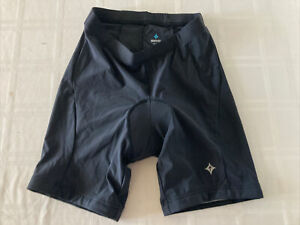 Specialized Women's Large Black Padded Fitted Cycling Shorts TS1 CM1