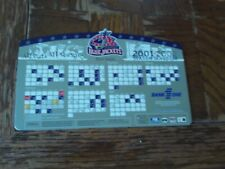 Columbus Blue Jackets 2001-02 Magnetic Schedule: (2nd Season) Measures 5 by 8