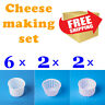 Set of 10 pcs Professional cheese mold 0.6+0.4+0.25 L | Goat Sheep Milk Rennet