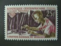 1966 Central African Republic Diamond Cutter Issue Scott #62 MLH - See Images