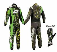 OMP GO KART RACE SUIT CIK/FIA LEVEL II APPROVED KARTING SUIT & Free Gloves