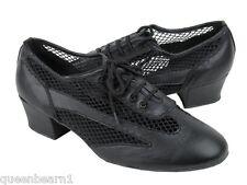 Women's West Coast Swing Salsa Ballroom Dance Shoes low Heel 1.5 Very Fine 2009