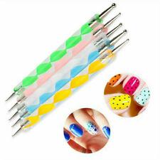 5pcs 2 Way Dotting Pen Marbleizing Tool Nail Art Design Dot Paint Tools USA