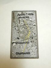 NASA Space Program Moon Map Apollo 1 Hills White Hill Embroidered Iron On Patch