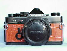 OLYMPUS OM-2N BLACK CAMERA BODY TAN LEATHER RARE