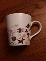 Starbucks Coffee 11 oz Mug Cup Spring 2006 Pink Brown Floral Green Butterfly