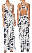ALEXIS 'Lovella' Cutout Jumpsuit (S) $627 - NWT SOLD OUT - Sheer Stripes