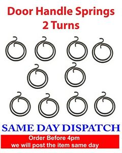 10 x Replacement Spring for Door Handle Lever Latch Internal Coil Repairs 2 TURN