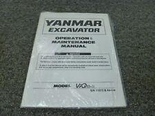 Yanmar Model Vio75-A Midi Mini Excavator Owner Operator Maintenance Manual