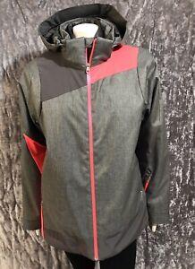 Spyder Women's Lynk 3-in-1 Snow Ski Winter Jacket XL Gray NEW