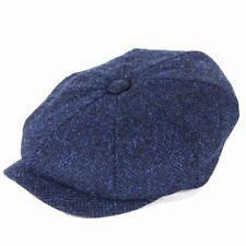 Failsworth Hats Carloway Harris Tweed Bakerboy Cap - Green Mix 57cm