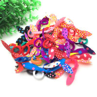 20Pcs Rabbit ear Hair band Children kids Elastic Hair Band Girl rubber band UK