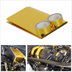 """Car 1200°f Continous Adhesive Reflective Gold head Shield Tape + 2 Rolls 1""""×5m"""
