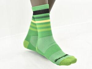 "Hincapie Custom 5"" Cuff Cycling Socks XL Green 3 Pair CLOSEOUT"
