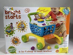 Bright Starts 4-In-1 Shop N Cook Walker, Sunnyside Up Egg Roller