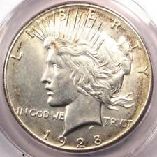 1928 Peace Silver Dollar $1 - ANACS AU55 Details - Rare 1928-P Key Date Coin!