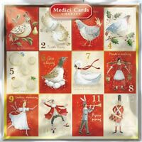 Pack of 8 12 Days Medici Charity Christmas Cards Supports Multiple Charities