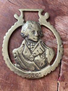 Horse Brass Vintage Lord Nelson Battle Trafalgar 1805 Navy Great Britain Brit