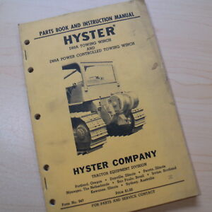 HYSTER CAT D89A Towing Winch Repair Shop Service Parts Manual Book catalog owner