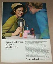 1966 ad page - Studio Girl-Hollywood Cosmetics beauty vintage print ADVERTISING