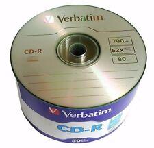 Verbatim Blank CD-R CDR Logo Branded 52X 700MB 80min Recordable Media Disc