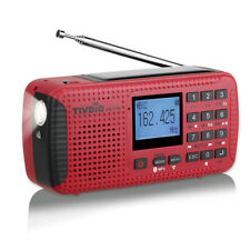 Retekess Portable FM/AM/NOAA Radio Weather Emergency Flashlight MP3 Player Solar