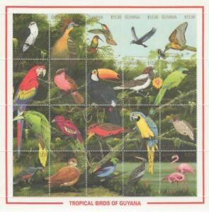 Guyana - 1990 - Tropical Birds -  Sheet Of 20 - MNH