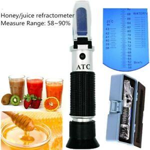 Handheld Refractometer Honey Beekeeper Water Sugar Test Brix 58-90% Water