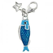Silver Charm TINGLE BLUE FISH, New, Bracelet Charms, SCH263, Jewellery, Boxed