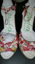 a new ex display pair malibu floral wedge sandals ex display no box size 5uk £25
