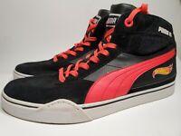 Puma Lifestyle Mens 10 Hot Wheels Sample Sneaker Black & Red Shoes