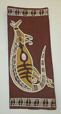 Australian Aboriginal Bark Painting, X-Ray Style Kangaroo, Bought in 1972