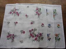 12 mouchoirs femme 100% coton tissées n°134