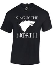 KING OF THE NORTH MENS T SHIRT GAME OF SNOW JON THRONES TYRION KHALEESI S - 5XL