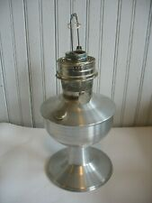 ALADDIN Brushed Aluminum Metal Kerosene Table Oil Lamp with Model 23 Burner