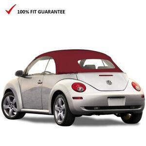 VW Volkswagen New Beetle 2003-09 Convertible Top Burgundy Stayfast Power Top